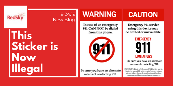 This 9-1-1 Call Sticker is Illegal